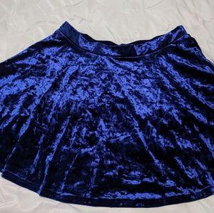 Blue velvet forever 21 Skater Skirt! 90's style!